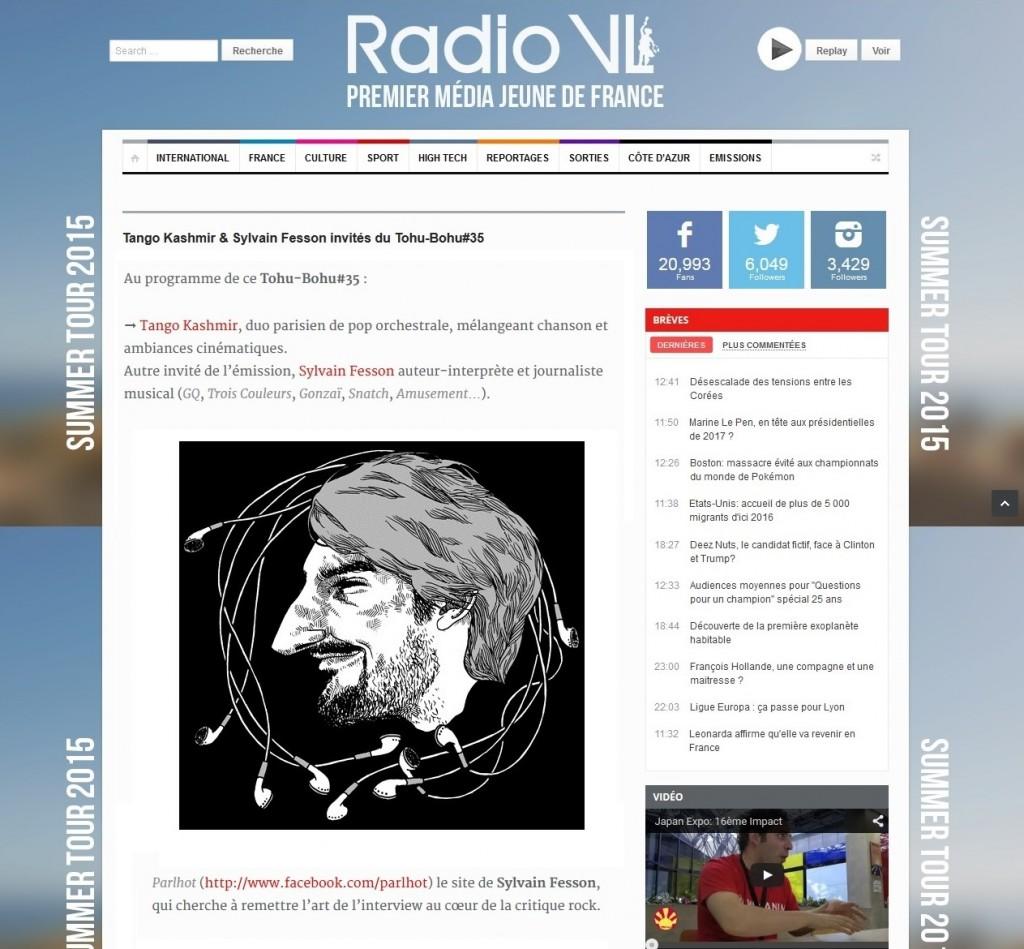SF sur Radio VL