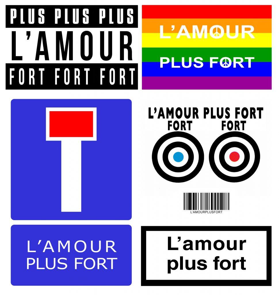 L'Amour plus fort (logo patchwork)